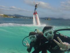 フライボード 体験コース & ビーチ体験ダイビング