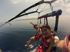 O 瀬底島パラセーリング+体験ダイビングビーチ
